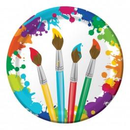 Fête artistique - Assiette ronde 9''