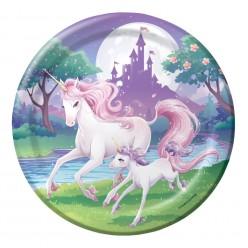 Licorne - Assiette ronde 9''