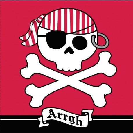 """Pirate - Serviettes de table 3 plis """"Arrgh"""""""