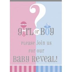 Gender Reveal - Invitations