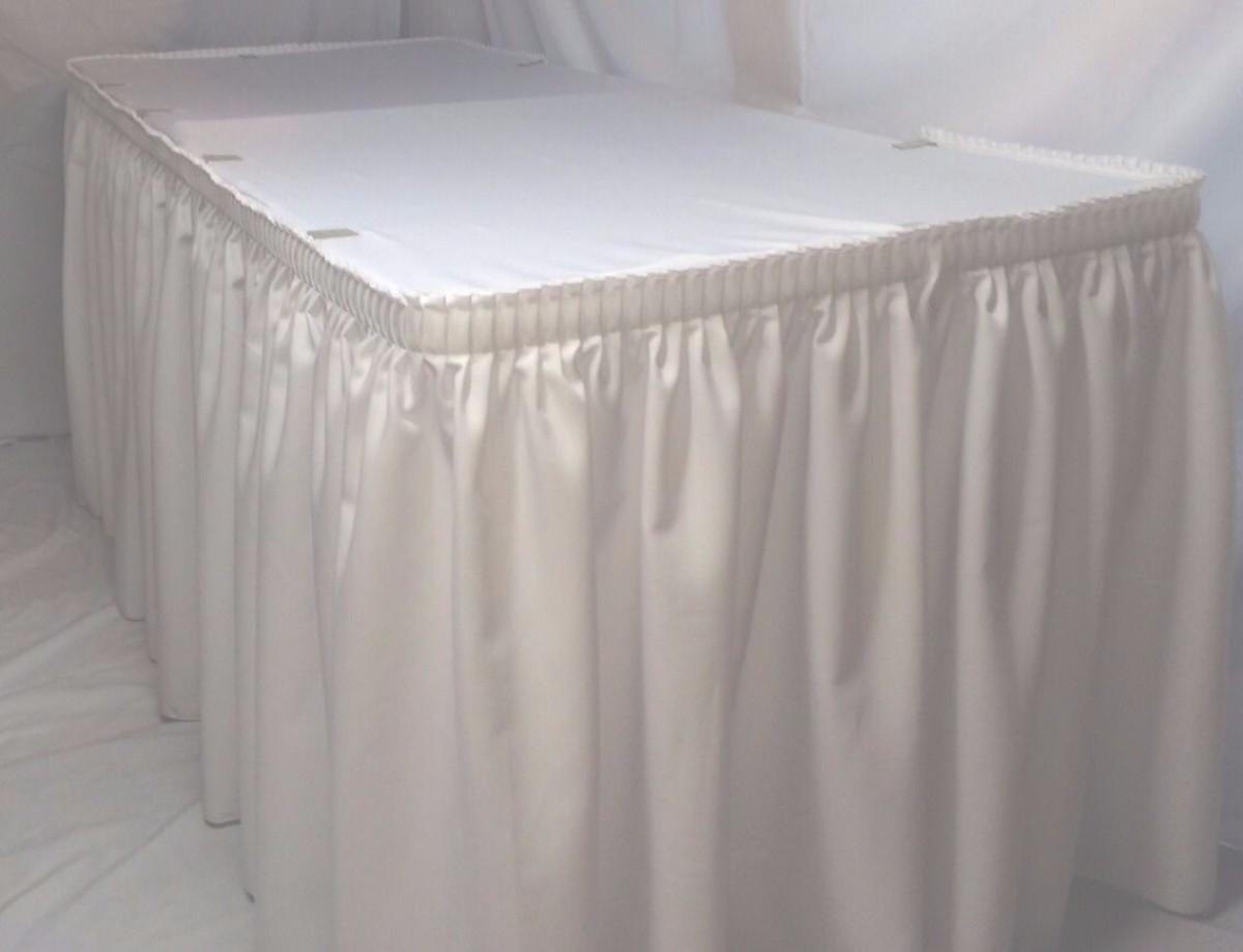 """Jupe de table blanche 21 pieds x 29"""""""