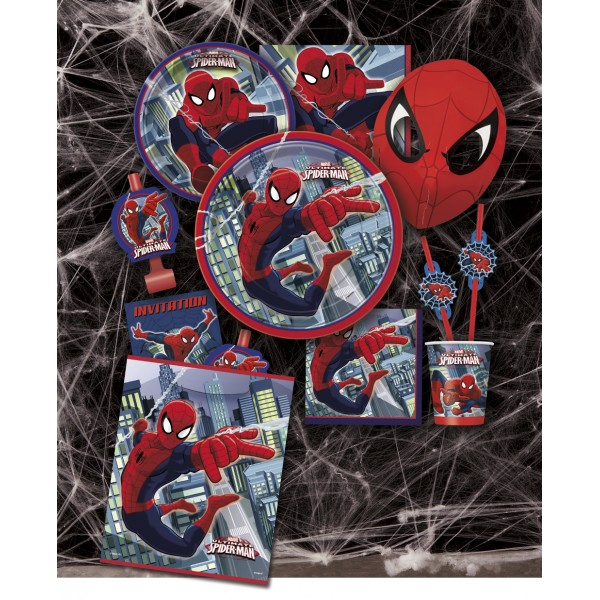D coration f te spider man f te anniversaire enfant cr of te - Deco anniversaire spiderman ...