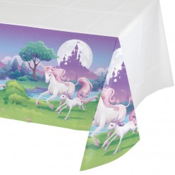 Licorne - Nappe de table en plastique