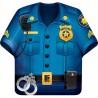 Policier - Assiette forme chemise
