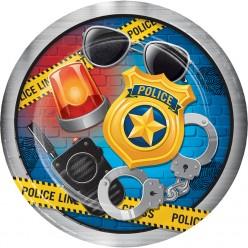 Policier - Assiette 9''