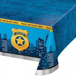 Policier - Nappe de table en plastique