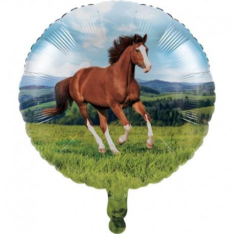 Chevaux - Ballon Métallique