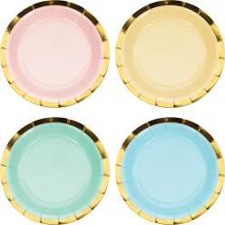 Célébrations pastel - Assiette 7'' forme éventail