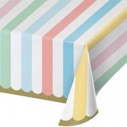 Célébrations pastel - Nappe de table en plastique