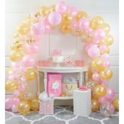 Ballons - Kit guirlande de ballons rose et or