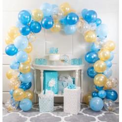 Ballons - Kit guirlande de ballons bleu et or