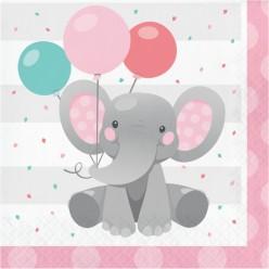 Éléphant enchanteur - Serviettes de table 3 plis
