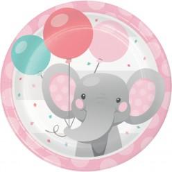 Éléphant enchanteur - Assiette 7''