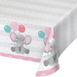 Éléphant enchanteur - Nappe de table en plastique