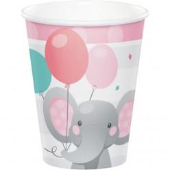 Éléphant enchanteur - Verre chaud/froid 9oz