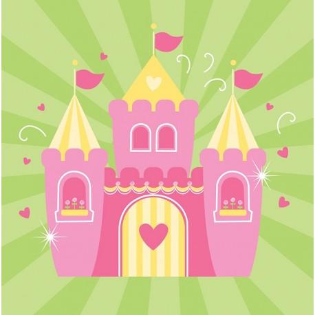 Princesse - Serviettes de table 3 plis