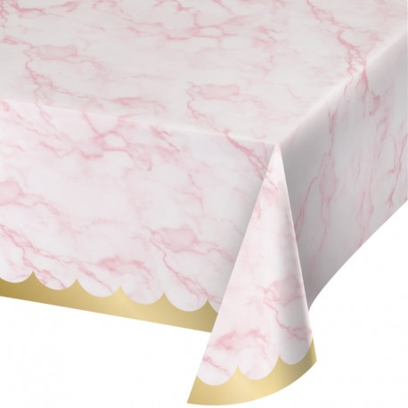 Or et Marbre - Nappe de table en plastique