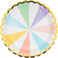 Célébrations pastel - Assiette 9'' forme éventail