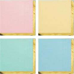 Célébrations pastel - Petite serviettes de table 3 plis