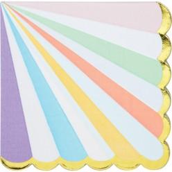 Célébrations pastel - Serviettes de table 3 plis