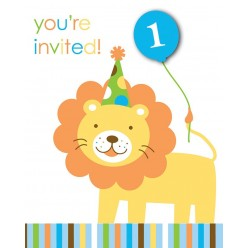 Zoo - 1er Anniversaire garçon - Invitations