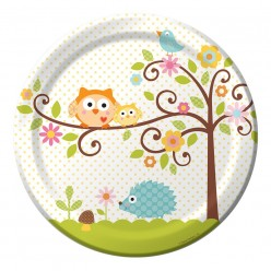 Arbre - Baby shower - Assiette 9''
