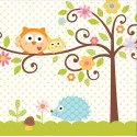 Arbre - Baby shower - Serviettes de table 3 plis