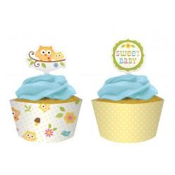 Arbre - Baby shower - Décoration de petit gâteau