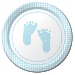 Plaid - Baby shower - Garçon - Assiette 7''