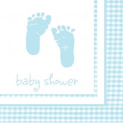 Plaid - Baby shower - Serviettes de table 2 plis