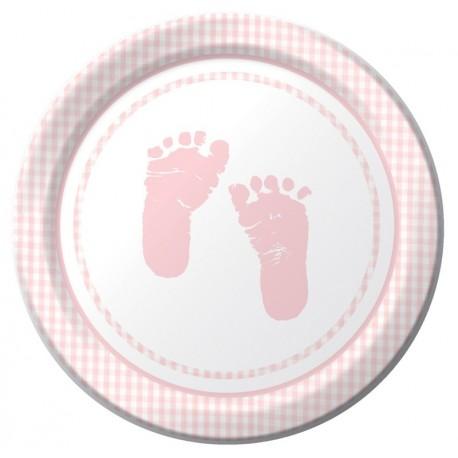 Plaid - Baby shower - Fille - Assiette 7''