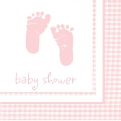 Plaid - Baby shower - Fille - Serviettes de table 2 plis