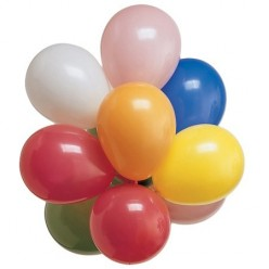 Couleurs assorties - Ballon latex rond 7''