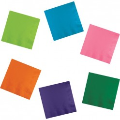 Serviettes de table 2 plis - 30 couleurs différentes