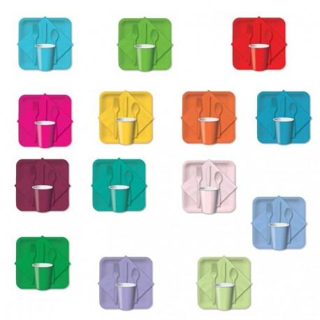 Assiette en papier - 30 couleurs différentes