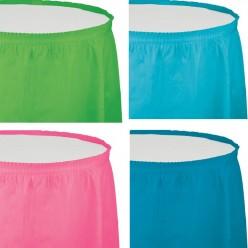 jupes de table 14'x29'' - 30 couleurs différentes