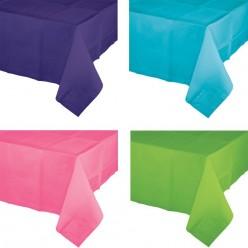 Nappe de table doublée de plastique - 30 couleurs différentes