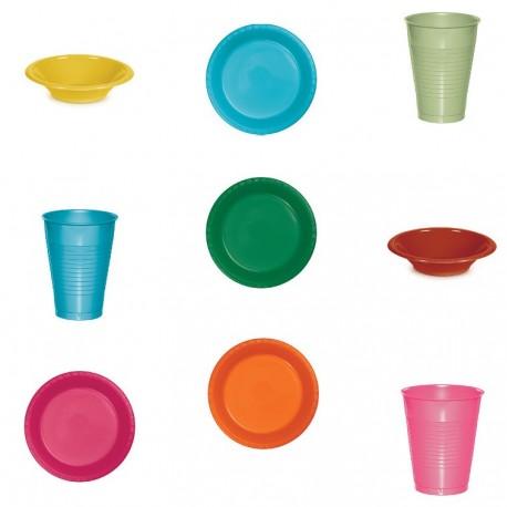 Assiette plastique haut de gamme - 30 couleurs différentes