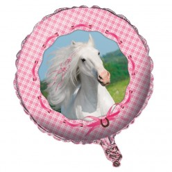Cheval de coeur - Ballon Métallique