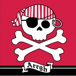 "Pirate - Serviettes de table 3 plis ""Arrgh"""