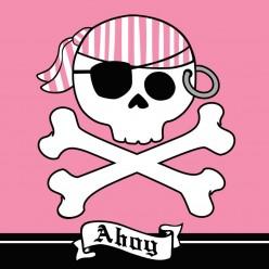 """Pirate - Serviettes de table 3 plis """"Ahoy"""""""
