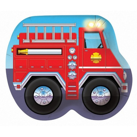 Pompier - Assiette en forme de camion 10.25''