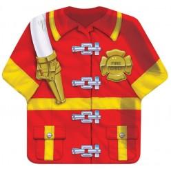 Pompier - Assiette en forme de chemise 9,5''