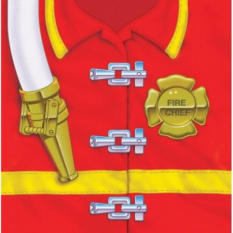 Pompier - Serviettes de table 3 plis déjeuner