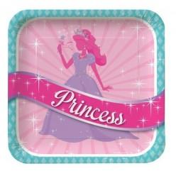 Princesse - Assiettes carrées 9''