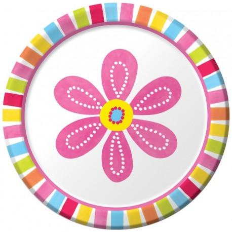 Fleur - Assiette ronde 7''