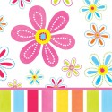 Fleur - Serviettes de table 3 plis