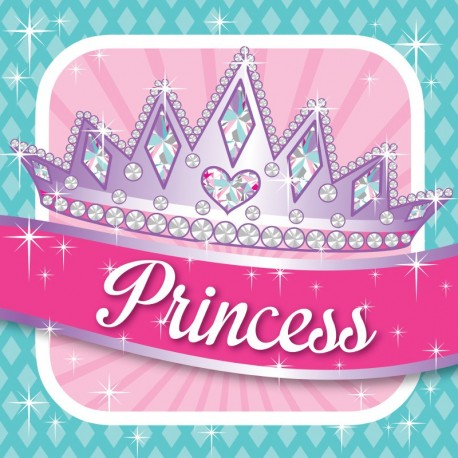 Princesse - Serviettes de table 3 plis cocktail