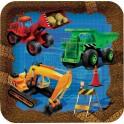 Chantier construction - Assiette carrée 9''