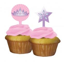 Princesse - Décoration de petit gâteau